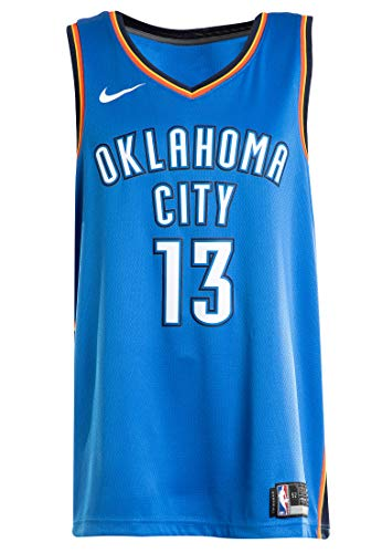 George Icon (NIKE Men's Paul George Oklahoma City Thunder NBA Icon Edition Swingman Jersey Size S 40)