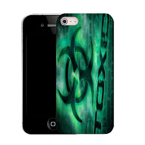 Mobile Case Mate IPhone 5S clip on Silicone Coque couverture case cover Pare-chocs + STYLET - aqua toxic pattern (SILICON)