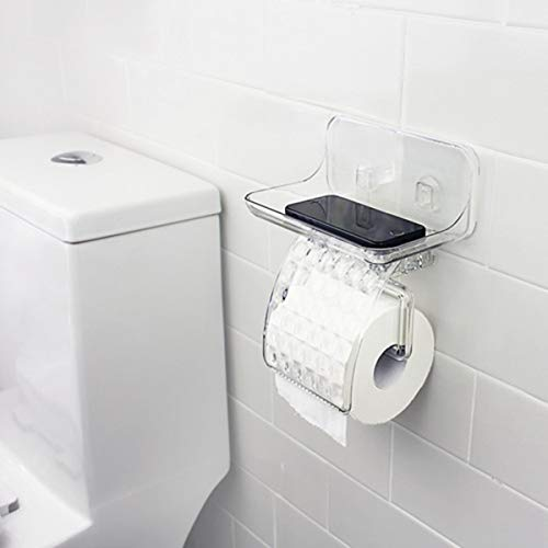 Tuersuer Easy to Assemble Toilet Tissue Holder KC-FT68 Bathroom Magical Sticky Tissue Holder Waterproof Toilet Paper Box Paper Container by Tuersuer