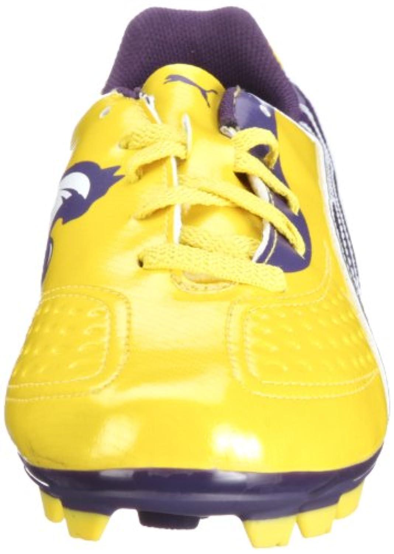 Puma  v5.11 i FG Jr Sports Shoes - Football Unisex-Child  Yellow Gelb (vibrant yellow-parachute purple 05) Size: 3.5
