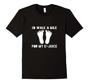 Men's I'd Walk a Mile for My E-Juice Vape Shirt 3XL Black