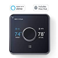Hive Heating and Cooling Smart Thermostat Pack (Thermostat + Hive Hub) Works with Alexa & Google Home