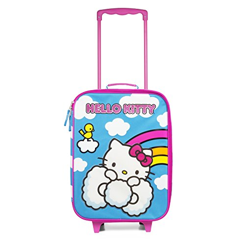 Hello Kitty On A Rainbow Multicolor Pilot Case Luggage for Girls