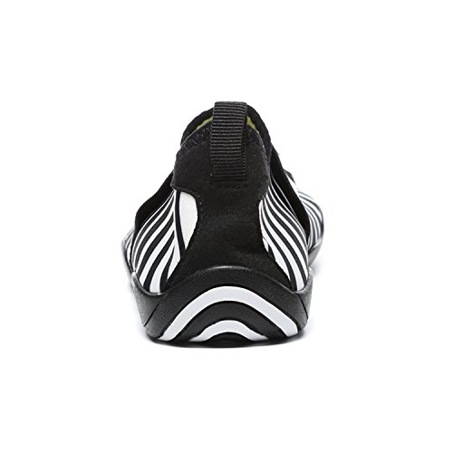 L-run Unisex Scarpe Trampoli Allaperto Mutifunctional Sport Mesh Traspirante Casual Flat-heeled Black_white