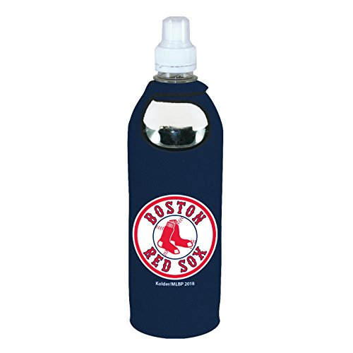 Boston Red Sox 1/2 Liter Water Soda Bottle Koozie Holder Cooler with Clip -