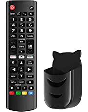 Universele afstandsbediening compatibel met LG LED LCD HDTV 3D 4K TV (alle modellen) afstandsbediening met zwarte afstandsbediening houder, vervanging voor LG AKB75375604, AKB75095307, AKB75675304, AKB74475433 TV afstandsbediening