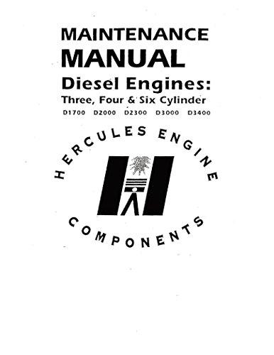 - HERCULES ENGINE MAINTENANCE MANUAL