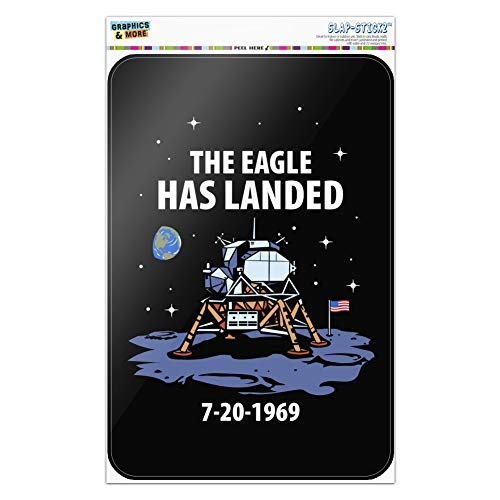 GRAPHICS & MORE NASA Apollo 11 The Eagle Has Landed Moon Landing Home Business Office Sign - Window Sticker - 8