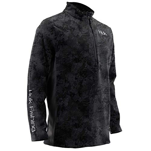 Huk Men's Tidewater Camo Subphantis 1/4 Zip Fleece Long Sleeve Shirt, Subphantis Night Vision, Large