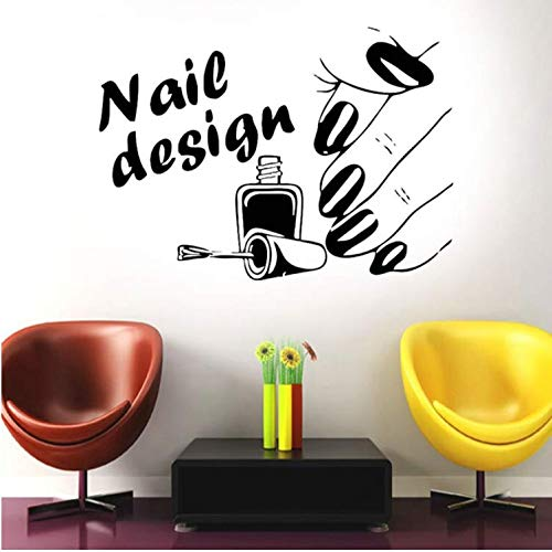 - FXQ Wall Sticker Nail Design Salon Vinyl Wall Decal Sticker Airbrush Manicure Business 8057Cm