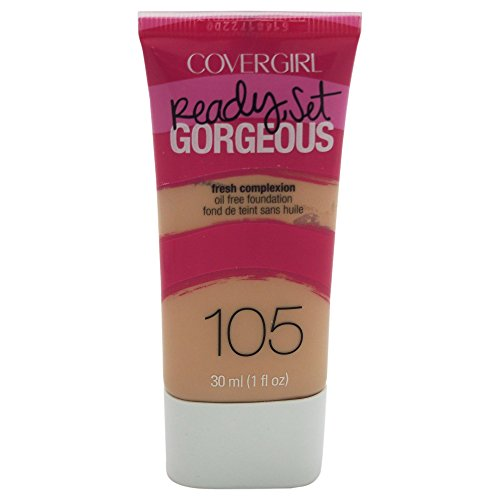 COVERGIRL Ready Set Gorgeous Foundation, 1 Tube (1 oz), Classic Ivory Tone, Liquid Foundation, Oil-Free All Day Formula (packaging may vary)