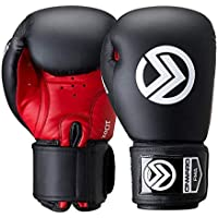Onward Fuel Boxing Glove - Hook and Loop Closure – Boxing, Training, Kickboxing, MMA Gloves – Black and Red