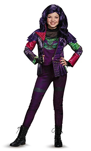 [Disguise Mal Prestige Descendants Disney Costume, X-Large/14-16] (Maleficent Halloween Costumes For Girl)