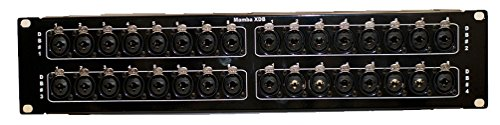 (Mamba 32XDB - 32 XLR Combo to 4 DB25 Patch Bay)