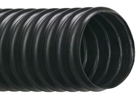 1-5//8 OD Black 1-1//2 ID Hi-Tech Duravent Vac-U-Flex TPE Series Thermoplastic Vacuum Hose 25 Length