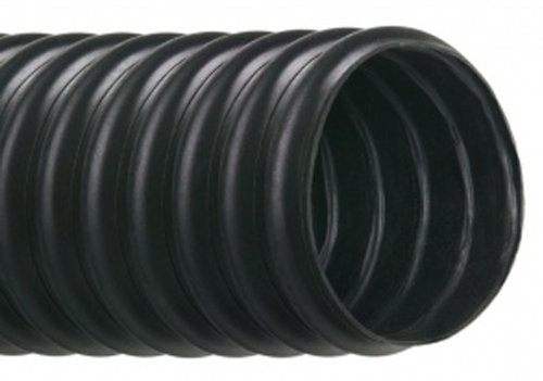 Hi-Tech Duravent Vac-U-Flex TPE Series Thermoplastic Vacuum Hose, Black, 1-1/2