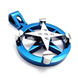 KONOV Jewelry Polished 2-Tone Star Stainless Steel Necklace Pendant, Silver Blue, 22 inch Chain Picture