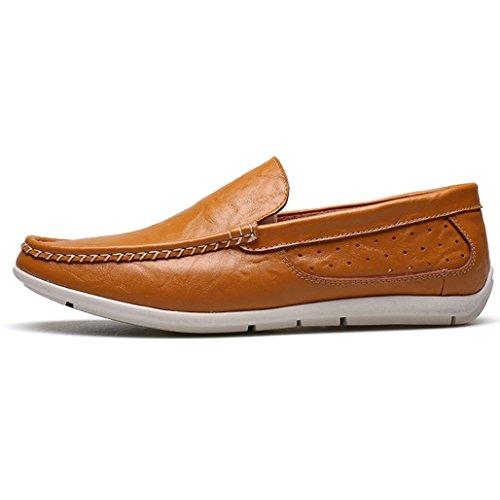 Zapatos Partido La Los Brown Los Al De Oficina Hombres Casuales El De Libre Moda De De Holgazanes Zapatos Conducción Aire Para 6qRxUn0fR