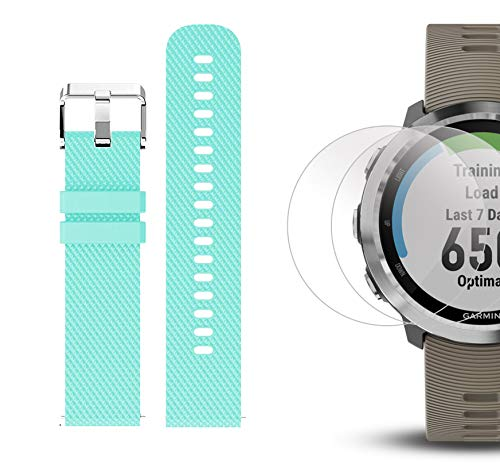 Garmin Forerunner 645 Bundle with Extra Band & HD Screen Protector Film (x4) | Running GPS Watch, Wrist HR, LiveTrack, Garmin Pay (Sandstone, Teal) by PlayBetter (Image #6)