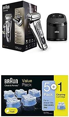 Braun Series 9 9395cc Afeitadora Eléctrica Hombre con Estación Limpieza y Carga Clean&Charge + Cartuchos de recarga 5+1 unidades: Amazon.es: Salud y cuidado personal