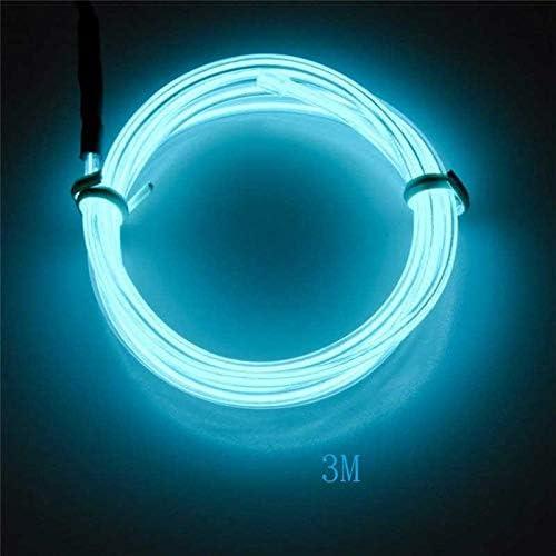 KAIKUN Auto Dekoration Licht Auto Lichtstreifen 3M 12V Fahrzeug-Armaturenbrett-Licht LED Innenbeleuchtung Autolicht Drahtlose Fernbedienung Autoladeger/ät