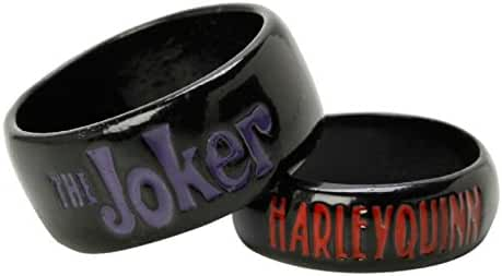 DC Comics The Joker Harley Quinn His And Hers Ring Set