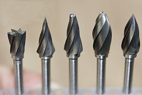 New 10 Pieces Tungsten Carbide Rotary Burr SET 1/8'' Shank Fit Dremel Tools for DIY Woodworking, Carving, Engraving, Drilling by Carving Expert (Image #1)