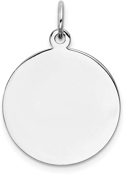Rect Solid 925 Sterling Silver Eng Polish Front//Back Disc Charm Engravable Brushed Matte Finish Pendant
