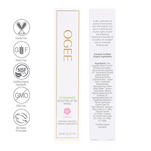Ogee Sculpted Tinted Lip Oil - Organic & Natural Lip Primer, Moisturizer & Treatment Balm - Camellia (Classic Pink Color) by Ogee (Image #2)