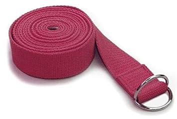 Lotus Design - Cinturón de yoga rojo Bordeaux: Amazon.es ...