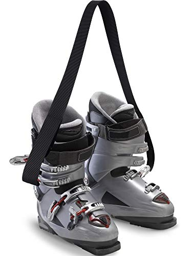 Zhanmai 4 Packs Ski and Snowboard Boot Carrier Strap Snowboard Boot Shoulder Sling Leash for Ice Skates Rollerblades Men and Women Great for Any Type of Ski Boot or Footwear