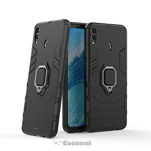 Cocomii Black Panther Armor Huawei Honor 8X/Honor View 10 Lite Case New [Heavy Duty] Tactical Metal Ring Grip Kickstand [Works with Magnetic Car Mount] Cover for Huawei Honor 8X (B.Jet ()