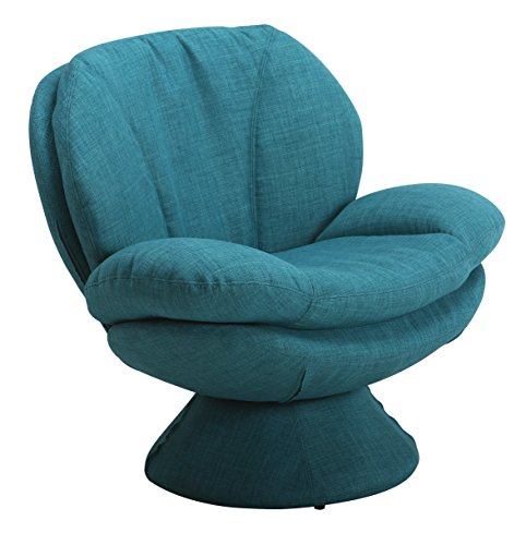 Mac Motion Comfort Chair Pub Leisure Accent Chair in Turquoise Fabric - 5