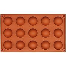Funshowcase 15 Cavity Semi Sphere Half Round Dome Silicone Mold Chocolate Teacake Baking Tray by FUNSHOWCASE