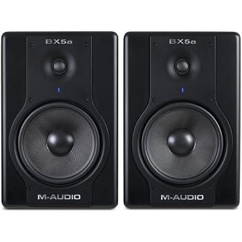 m audio bx5a deluxe 70 watt bi amplified studio reference monitors musical instruments. Black Bedroom Furniture Sets. Home Design Ideas