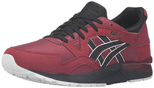 ASICS Men's Gel-Lyte V Fashion Sneaker, Pomegranate/Black, 10.5 M US