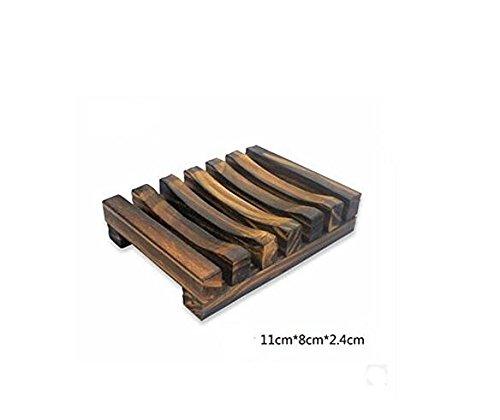 Karazan Bath Accessories Natural Wood Soap Dish/Soap (Wooden Soap Holder)