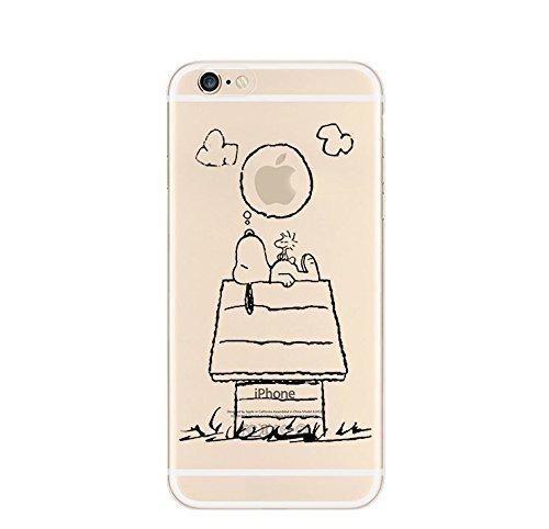 iPhone 5 Caso 5S por licaso® para el patrón de Apple iPhone 5 5S SE Snoopy Soñando Peanuts Charly Brown TPU de silicona ultra-delgada proteger su iPhone 5S es elegante y cubierta regalo de coches Snoopy träumt