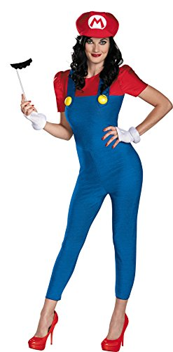 Cheap Super Mario Costumes (UHC Women's Sexy Super Mario Outfit Deluxe Fancy Dress Halloween Costume, M (8-10))