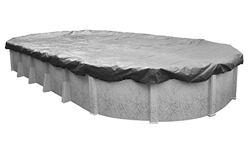 Pool Mate 331833-4-PM Oval Above-Ground Swimming Pool Winter Cover, 18' by 33', Platinum Silver by Pool Mate