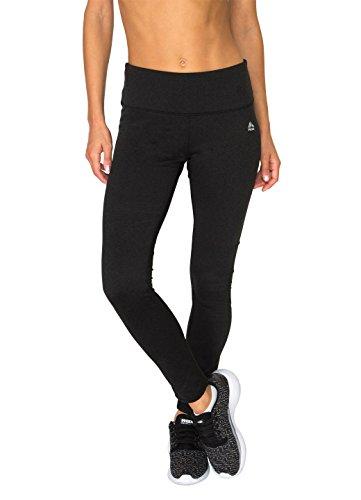 RBX Active Women's Striated Brush Back Leggings Black S