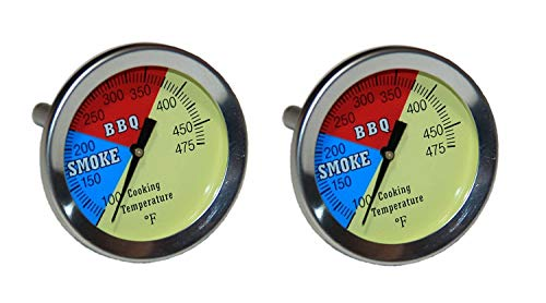 ck) BBQ CHARCOAL GRILL PIT WOOD SMOKER TEMP GAUGE THERMOMETER 2.5