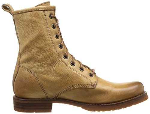 Frye Veronica Combat - Botas de canvas mujer Camel Soft Vintage Leather-76276