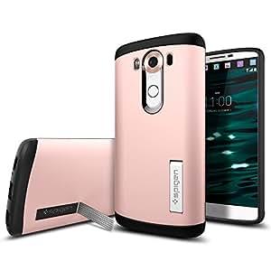 LG V10 Case, Spigen® [Slim Armor] AIR CUSHION [Rose Gold] Air Cushioned Corners / Dual Layer Protective Case for LG V10 (2015) - Rose Gold (SGP11811)