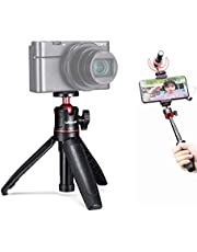 """ULANZI MT-08 Mini Extendable Handheld Tripod Compatible with iPhone/Samsung/Google Smartphone Clamp for Travel Vlogging Compact Travel, 1/4"""" Tripod Head"""