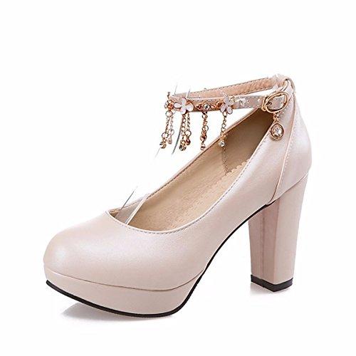 PU Chaussures Blanc DIMAOL Rose Pour Pour Beige Heels Automne Beige Un Printemps Talon Femmes Noir Comfort CSCqF4tB