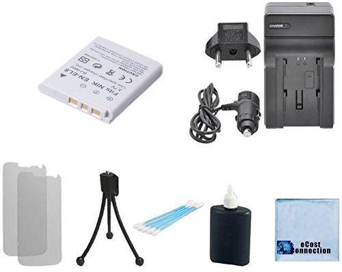 EN-EL8 Rechargeable camera battery + home / car charger for Nikon Coolpix P1, P2, S1, S2, S3, S5, S50, S50c, S51, S51c, S52, S52c, S6, S7, S7c, S8, S9, Nikon Cool-Station MV-11, MV11, Nikon Cool-Station MV-12, MV12, P350 & More + Complete Starter Kit