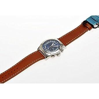 Uhr spazio24 Herren l4 C032-01bwmc Quarz (Batterie) Stahl Quandrante blau Armband Leder