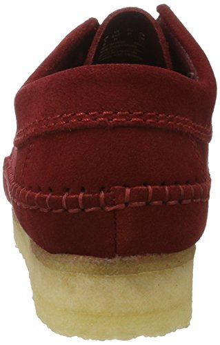 Suede Rojo Cranberry Derby Clarks Weaver para Mujer qwRfHFf