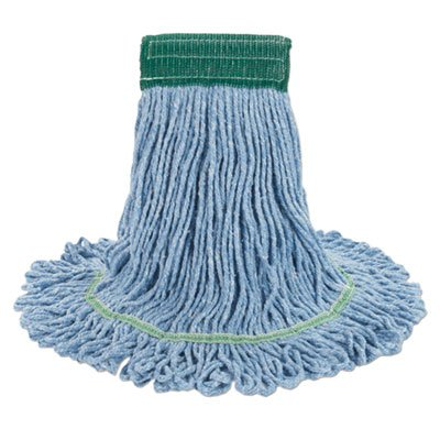 (Boardwalk BWK502BLCT Super Loop Wet Mop Head, Cotton/synthetic, Medium Size, Blue, 12/carton)